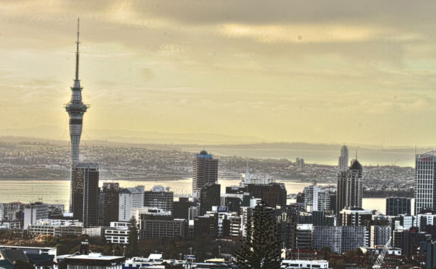 The Auckland Skyline from Mount Eden