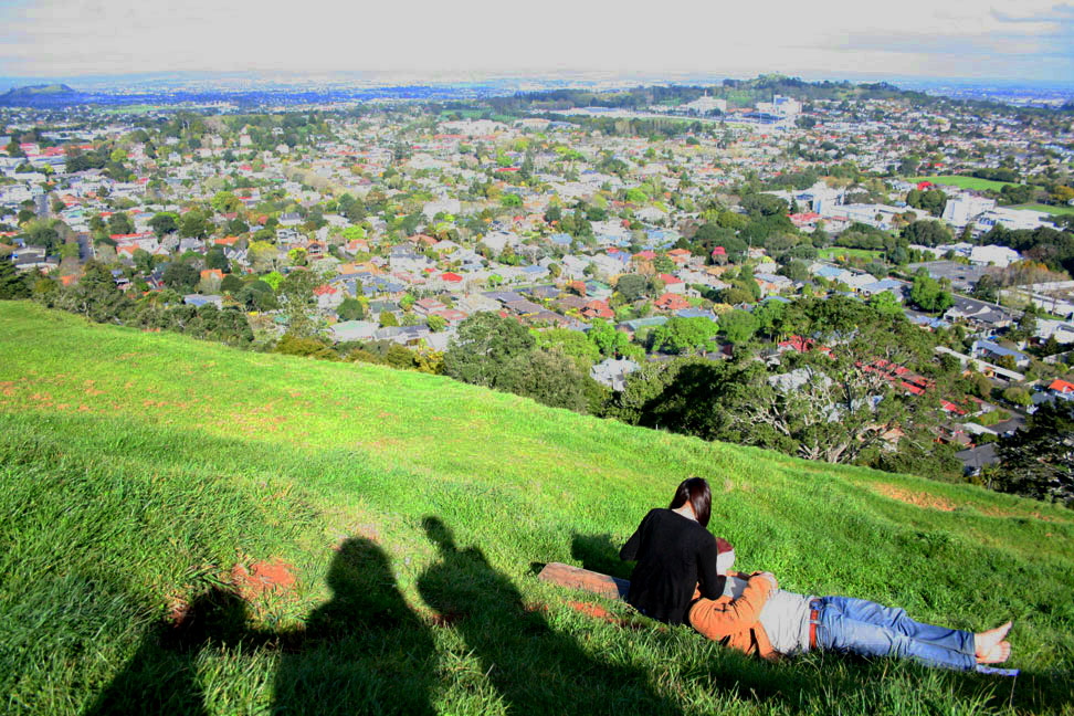Auckland, looking southeast from the summit of Mount Eden