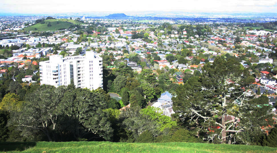 Auckland from the Mount Eden summit