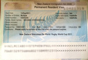 New Zealand permanent resident visa