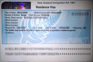 New Zealand residence visa