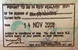 New Zealand visitor's permit